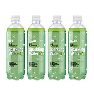 Meko GV4.0 Sparkling Water Lime 430ml - Pack of 4