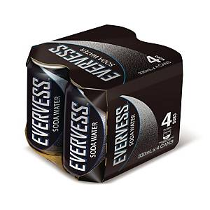 Evervess Soda Water 330ml - Pack of 4