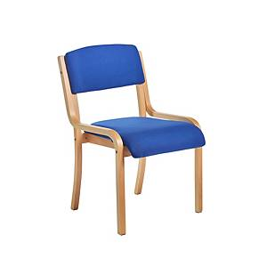 Conference Chair Wood-Framed Blue - Delivery Only