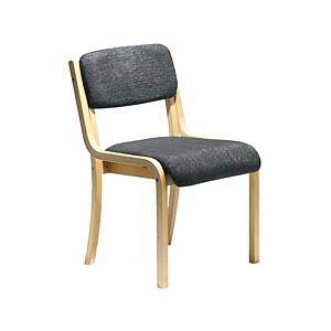 Conference Chair Wood-Framed Charcoal - Del & Ins