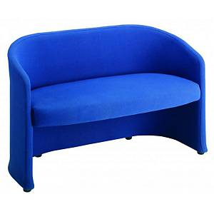Reception Tub Chair 2-Seater Blue - Delivery Only