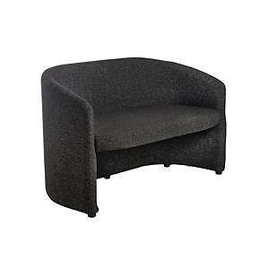 Reception Tub Chair 2-Seater Charcoal - Del & Ins