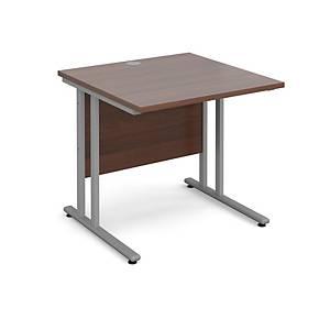 Maestro 25SL Straight Desk 800x600mm Walnut - Delivery Only