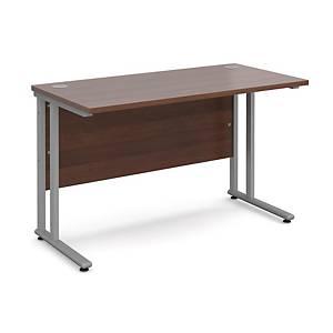 Maestro 25SL Straight Desk 1200x600mm Walnut - Delivery Only