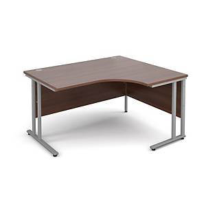 Maestro 25SL Ergonomic Desk RH 1400mm Walnut - Delivery Only
