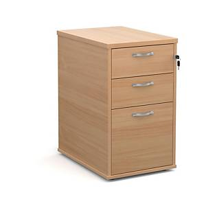 Slimline Pedestal 3-Drawer Tall Mobile 600Dmm Beech - Delivery Only