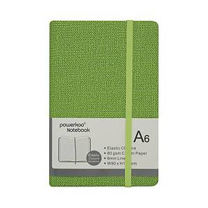 Powerkoo LT-0866 Notebook A6 80g Green