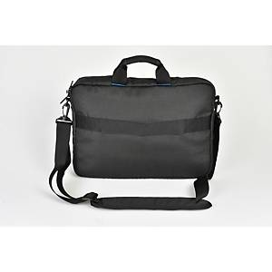 Monolith 3314 Blue Line Laptop Briefcase 15.6  Black