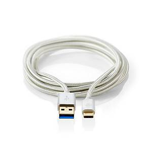 Nedis CCTB61600AL10 Sync Charge & AV Support Cable USB 3.0 C Male to A Female 1m