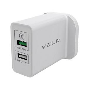 VELD VH30CW Super-Fast 2 Port Wall Charger 30W