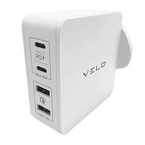 VELD VH66EW Super-Fast Wall Charger 4-Port 66W