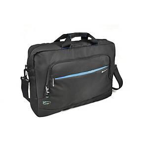 Monolith 3316 Blue Line Laptop Briefcase 17.2  Black