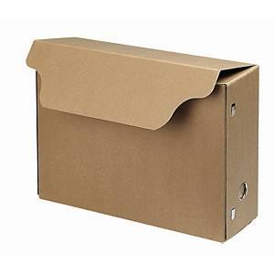 Boîte d'archives format folio, dos 11 cm, carton 650 g, brune, la boîte