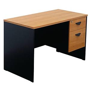 ITOKI TWF1202-60 OFFICE TABLE 120X60X75 CM CHERRY/BLACK
