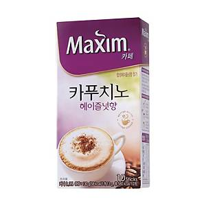 PK10 MAXIM COFFEE CAPPUCINO HAZELNUT 13G
