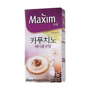 맥심카페 카푸치노 헤이즐넛향 (13g X 10스틱)