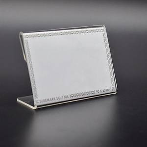 Suremark Acrylic Card Stand - 90x60mm (WxH)