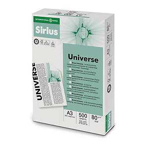 Papir til sort-hvid laser- og inkjetprint Sirius Universe, A3 80 g, 5 x 500 ark