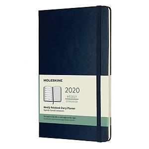 Kalendarz MOLESKINE L, tygodniowy, niebieski