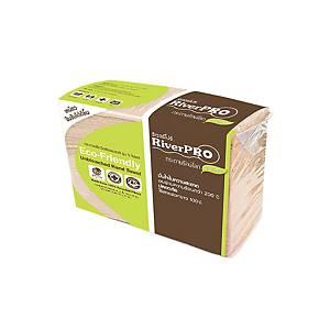 RIVERPRO กระดาษเช็ดมือหนา 2 ชั้น บรรจุ 300 แผ่น สีน้ำตาล