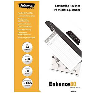 PK250 + PK25 FELLOWES LAMINATING POUCHES