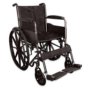 Code Red Folding Wheelchair Black
