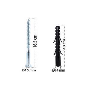 พุกเหล็กแบบเกลียว 16.5 เซนติเมตร