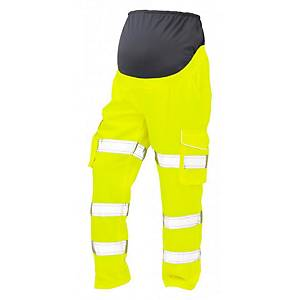 High Visibility Maternity Cargo Trousers Medium Yellow
