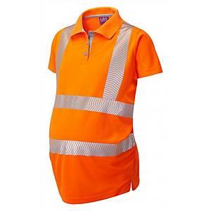 High Visibility Maternity Polo Shirt Large Orange