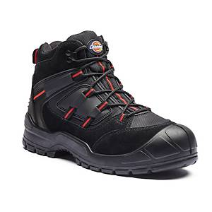 Dickies FA24/7B Safety Boot S38 (UK5) Black/Red