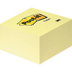 Haftnotiz-Würfel 3M Post-it 636B, 76x76mm, 450 Blatt, gelb