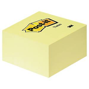 3M Post-it® 636B öntapadó kockatömb, 76 x 76 mm, sárga, 450 lap/csomag