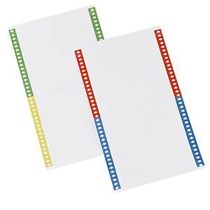 Etichette per cartelle sospese armadio - conf. 10 fogli x 40