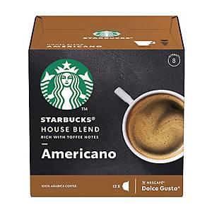 Starbucks Dolce Gusto House Blend Americano Capsule - Box of 12