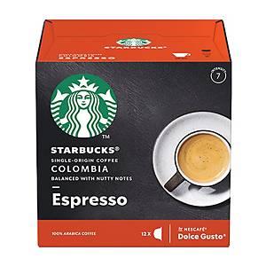 Starbucks Dolce Gusto Colombia Espresso Capsules - Box of 12