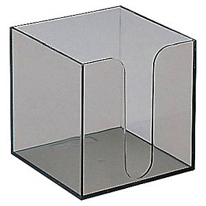 Dispenser voor kubus memoblok, leeg, 100 x 100 mm, transparant, per stuk