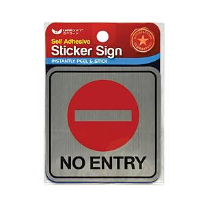 Unicorn USS-809 Sign  No Entry  Sticker