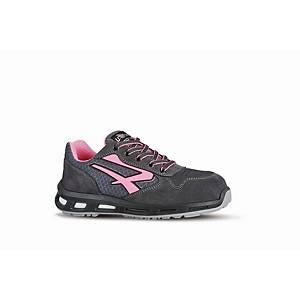 Chaussures de sécurité femme basses U-Power Cherry S1P - gris/rose - pointure 41