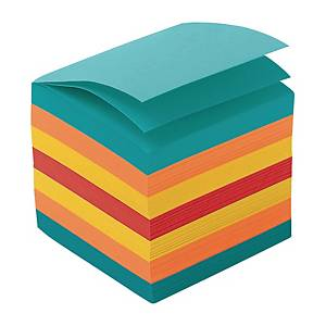 Ersatzzettel Lyreco geleimt, 9x9 cm, 700 Blatt, farbig assortiert