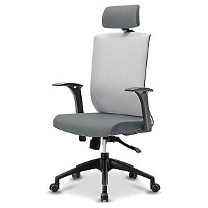 FIRST S-2 MESH TASK CHAIR T-ARMREST GRY