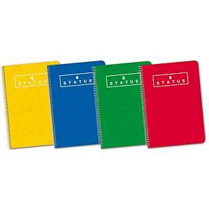 Caderno espiral Enri - 4.º - 80 folhas - 4x4 - capa dura - Sortidas