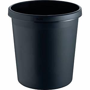 Corbeille à papier Helit, 18 l, plastique, noir