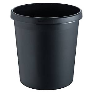 Helit round waste bin H61058 18L with height of 32cm black - per piece