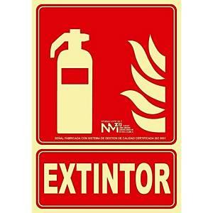 Señal  extintor  - PVC - 210 x 300 mm - clase A