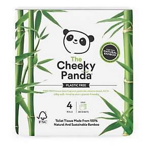 Cheeky Panda Toilet Rolls Plastic-Free Bamboo - Pack Of 4
