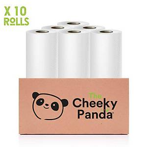 Cheeky Panda Kitchen Roll Plastic-Free Bamboo 2-Ply - Pack Of 10