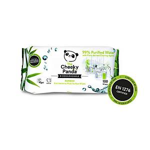 Cheeky Panda Anti-Bacterial Multi Surface Wipes - Pack Of 100
