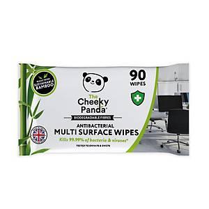 Cheeky Panda Anti-Bacterial Multi Surface Wipes - Pack Of 100