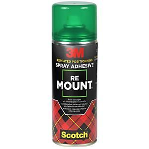 Colle en aérosol 3M ReMount, 400 ml, repositionnable