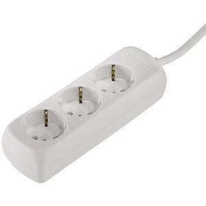 Steckdosenleiste Hama 30569, 3-fach, 3m Kabel, weiß
